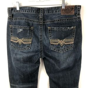 Seven7 Jeans Size 34x30 Straight leg Distressed
